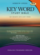 ESV Hebrew-Greek Key Word Study Bible Hardback