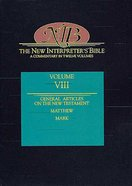 Matthew-Mark (#08 in New Interpreter's Bible Series) Hardback
