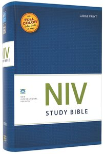 NIV Study Bible Large Print (Red Letter Edition)