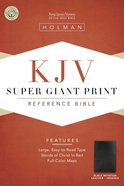 KJV Super Giant Print Reference Black Indexed (Red Letter Edition) Imitation Leather