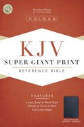KJV Super Giant Print Reference Blue Indexed (Red Letter Edition) Imitation Leather