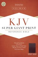 KJV Super Giant Print Reference Burgundy Indexed (Red Letter Edition) Imitation Leather