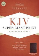 KJV Super Giant Print Reference Burgundy (Red Letter Edition) Bonded Leather