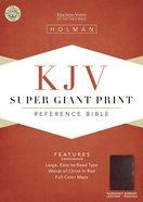 KJV Super Giant Print Reference Burgundy Indexed (Red Letter Edition) Bonded Leather