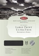 NKJV Ultrathin Large Print Center-Column Reference Black Indexed (Red Letter Edition) Bonded Leather