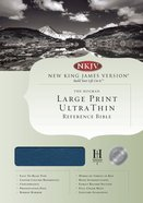 NKJV Ultrathin Large Print Reference Blue Indexed (Red Letter Edition) Bonded Leather