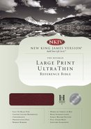 NKJV Ultrathin Large Print Reference Burgundy Indexed (Red Letter Edition) Bonded Leather