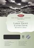 NKJV Ultrathin Large Print Reference Black (Red Letter Edition) Genuine Leather