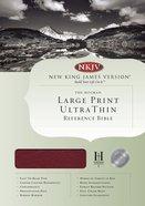 NKJV Ultrathin Large Print Reference Burgundy (Red Letter Edition) Genuine Leather