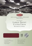 NKJV Ultrathin Large Print Reference Burgundy Indexed (Red Letter Edition) Genuine Leather