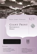 KJV Cornerstone Giant Print Reference Black Indexed (Red Letter Edition) Imitation Leather