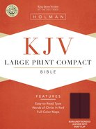 KJV Cornerstone Large Print Compact Burgundy Flap (Red Letter Edition) Bonded Leather