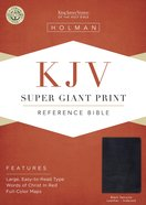 KJV Holman Super Giant Print Reference Black Indexed (Red Letter Edition) Genuine Leather