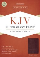 KJV Holman Super Giant Print Reference Burgundy Indexed (Red Letter Edition) Genuine Leather