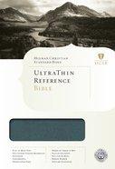 HCSB Ultrathin Reference Bible Mantova Blue Simulated Leather (Indexed) Imitation Leather