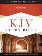 KJV Study Bible Pink/Brown Simulated Leather Imitation Leather