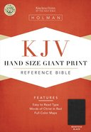 KJV Hand Size Giant Print Reference Bible Mantova Black Imitation Leather