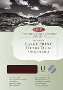 NKJV Large Print Ultrathin Reference Indexed Bible Mahogany Simulated Leather Imitation Leather