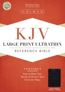 KJV Large Print Ultrathin Reference Bible Black Indexed Bonded Leather