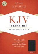 KJV Ultrathin Reference Bible Black Leathertouch (Indexed) Imitation Leather