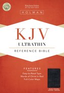 KJV Ultrathin Reference Bible Black Genuine Leather (Indexed) Genuine Leather