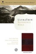 HCSB Ultrathin Reference Bible Mahogany Leathertouch (Indexed) Imitation Leather