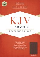 KJV Ultrathin Reference Bible Brown Leathertouch