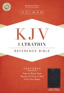 KJV Ultrathin Reference Bible Black Indexed Bonded Leather