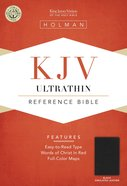 KJV Ultrathin Reference Bible Black Leathertouch Imitation Leather