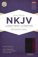 NKJV Large Print Ultrathin Reference Bible Slate Blue Imitation Leather