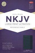 NKJV Large Print Ultrathin Reference Indexed Bible (Slate Blue Leathertouch) Imitation Leather