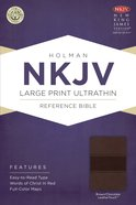 NKJV Large Print Ultrathin Reference Bible Brown/Chocolate Leathertouch Imitation Leather