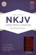 NKJV Large Print Ultrathin Reference Bible Classic Mahogany Leathertouch Imitation Leather