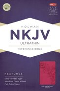 NKJV Ultrathin Reference Indexed Bible Pink