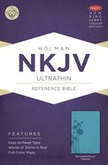 NKJV Ultrathin Reference Indexed Bible Teal Leathertouch Imitation Leather