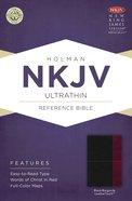 NKJV Ultrathin Reference Bible Black/Burgundy Leathertouch Imitation Leather