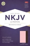 NKJV Ultrathin Reference Indexed Bible Pink/Brown Leathertouch Imitation Leather