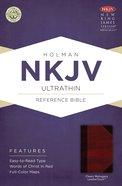 NKJV Ultrathin Reference Bible Classic Mahogany Leathertouch Imitation Leather