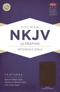 NKJV Ultrathin Reference Bible Brown Genuine Cowhide