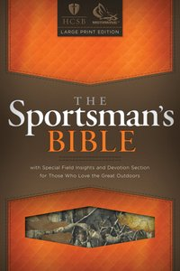 Hscb Large Print Sportsmans Bible (Mothwing Camouflage)
