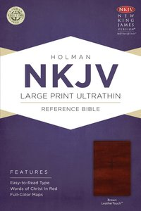 NKJV Large Print Ultrathin Reference Bible Brown