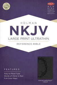 NKJV Large Print Ultrathin Reference Indexed Bible Charcoal