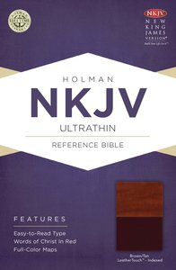 NKJV Ultrathin Reference Indexed Bible Brown/Tan Leathertouch