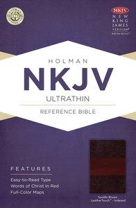 NKJV Ultrathin Reference Indexed Bible Saddle Brown