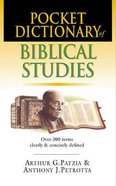 Pocket Dictionary of Biblical Studies Paperback