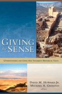 Giving the Sense Paperback