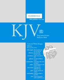 KJV Concord Wide Margin Reference Goatskin Black