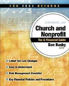 Zondervan 2004 Church and Nonprofit Tax & Financial Guide