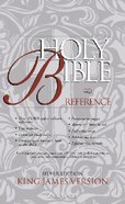 KJV Reference Silver Navy Indexed Bonded Leather