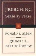 Preaching Verse By Verse Paperback
